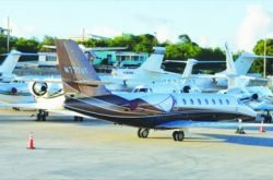 JETS CROWD ANGUILLA'S AIRPORT FOR CHRISTMAS AND THE NEW YEAR