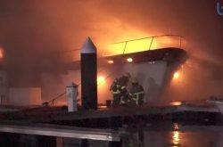 Dockyard inferno: two boats lost in fire