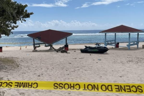 Jet Ski ploughs into beach cabana