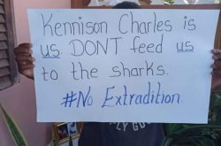 Grand Bay residents protest possible extradition of Dominican man