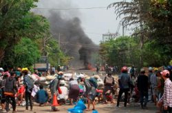 Report: Myanmar forces fire on funeral; crackdown continues