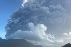 La Soufriere erupts on its 42nd anniversary